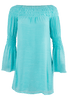 Union of Angels Zuliet Dress - Turquoise - Front
