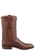 Lucchese Men's Chocolate Oiled Ranch Hand Roper Boots - Side