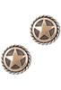 Randall Moore Gold Star Rope Edge Cufflinks - Front