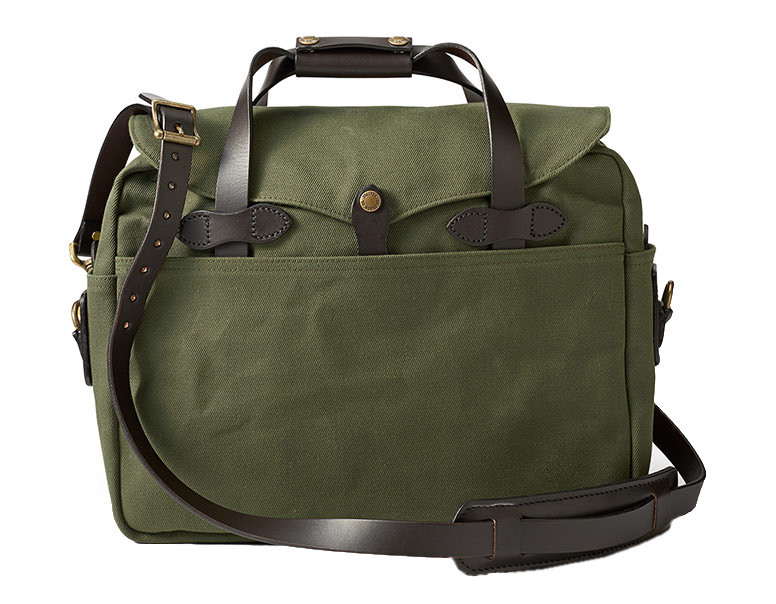 Filson Briefcase/Computer Bag - Otter Green - Front