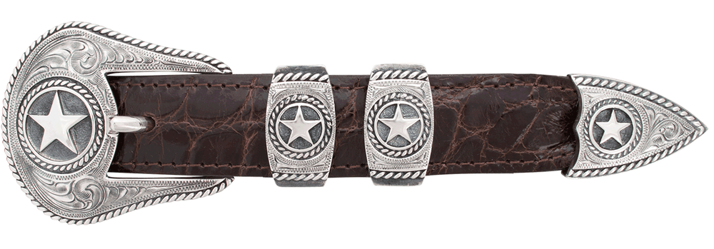 "Randall Moore Rope Star Engraved 1"" Buckle Set"