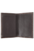 Lizard Gusseted Card Case - Brown - Inside