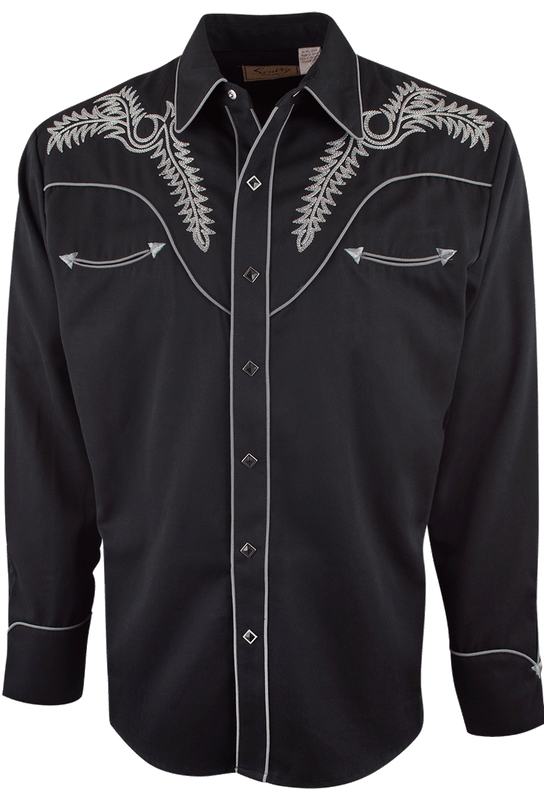 SCULLY CHISOM VINTAGE WESTERN SNAP SHIRT-FRONT