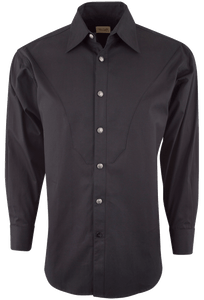 Stubbs Men's Solid Color Shirt - Black - Front