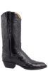 Lucchese Women's Black Full-Quill Ostrich Boots - Side