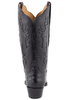 Lucchese Women's Black Full-Quill Ostrich Boots - Back