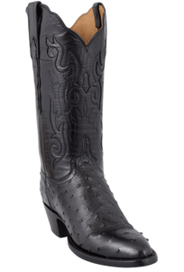 Lucchese Women's Black Full-Quill Ostrich Boots - Hero