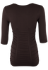 Last Tango Ruched Top - Chocolate - Back