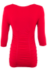 Last Tango Ruched Top - Red - Back