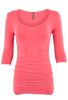Last Tango Ruched Top - Coral - Front