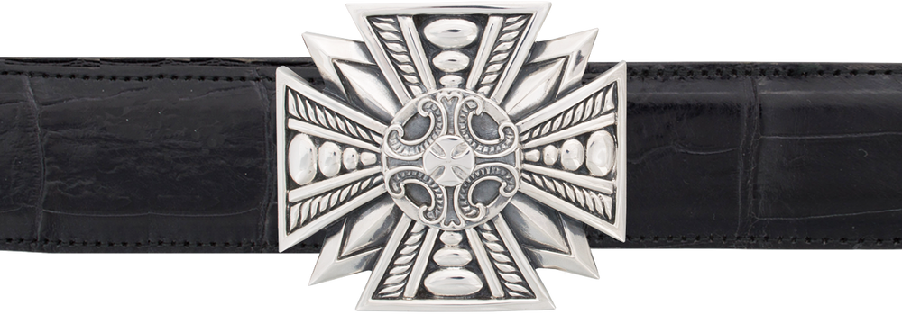 "Jeff Deegan Maltese Cross 1 1/2"" Trophy Buckle"