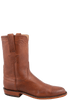 Lucchese Men's Cognac Burnished Ranch Hand Roper Boots- Side