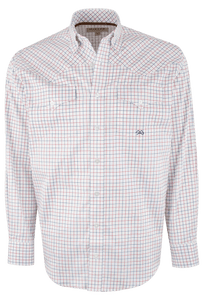 Miller Ranch Red and Blue Tattersall Pattern Shirt - Front