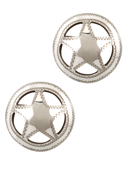 Pinto Ranch Quarter Star Cufflinks - Front