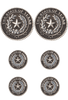 Pinto Ranch State Seal of Texas Stud Set - Front