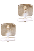 University of Texas Gold and Silver Cufflinks - Back