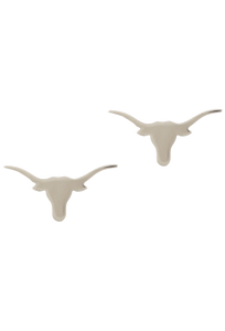 University of Texas Bevo Silver Cufflinks - Front