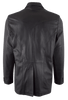 Scully Lambskin and Full-Quill Ostrich Blazer - Black - Back