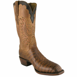Lucchese Mens Caiman Boots - Tan
