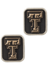 Texas Tech University Gold and Silver Cufflinks - Front