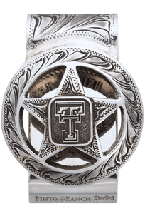Texas Tech University Cinco Peso Engraved Money Clip - Front