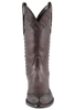 Stallion Women's Chocolate Majestic Caiman Crocodile Boots - Front