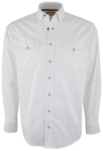 Miller Ranch Solid White Snap Shirt - Front