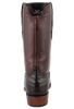 Lucchese Mens Ultra Caiman Crocodile Boots - Chocolate - Back