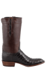 Lucchese Mens Ultra Caiman Crocodile Boots - Chocolate - Side
