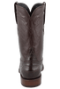 Lucchese Men's Chocolate Ultra Caiman Crocodile Roper Boots - Back