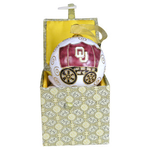 Ornament - University of Oklahoma Round Schooner