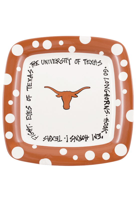 University - University of Texas Polka Dot Plate