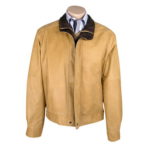 Remy Double Collar Lambskin Jacket