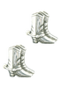 Pinto Ranch Boot Silver Cufflinks - Front