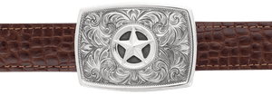 "Greg Jensen Libre with Star 1 1/4"" Trophy Buckle"