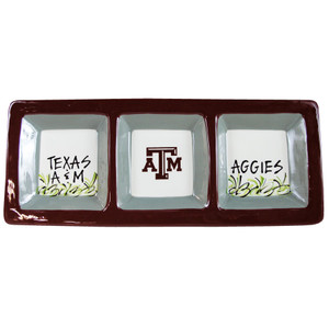 University - Texas A&M University Three Section Serving Dish