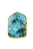 Christina Greene Turquoise Shield Ring - Front