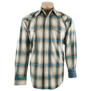 Stetson Brown Ombre Plaid Shirt