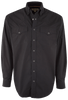 Miller Ranch Black Solid Snap Shirt - Front
