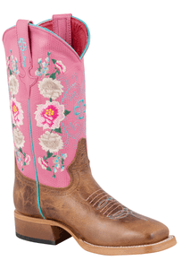 Macie Bean Kids Honey Bunch Rose Lizard Print Boots - Hero
