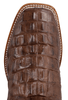 Anderson Bean Kids Chocolate Nile Croc Print Boots - Toe