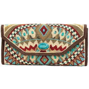 Mary Frances Turquoise Power Handbag - Front