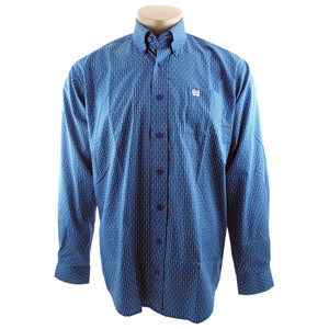 Cinch Blue Geo Stripe Shirt