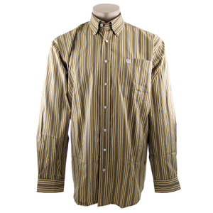 Cinch Brown Stripe Shirt