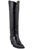 "Liberty Boot Co. Women's Black Patent Twiggy 16"" Boots - Hero"