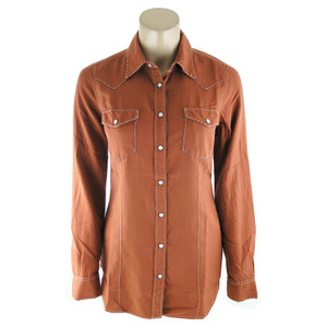 Ryan Michael Whipstitch Pearl Snap Western Shirt