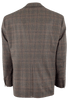 Brown Wool Plaid Western Sport Coat - Back