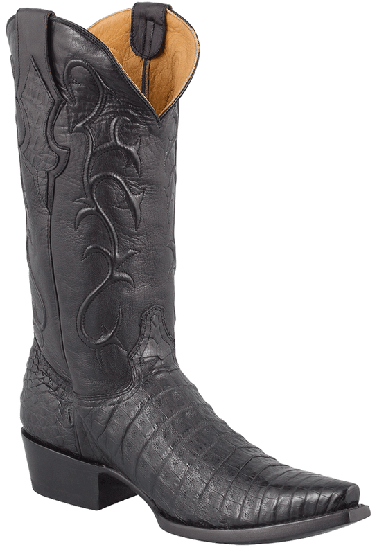 Benchmark by Old Gringo Men's Black Belly Caiman Tioga Boots - Hero