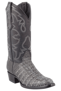 Benchmark by Old Gringo Men's Black and Gray Belly Caiman Teton Boots
