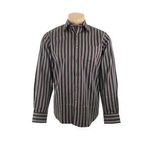 Bugatchi Mocha Striped Shirt - Front
